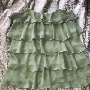 Candies Size L Frilly Tiered Tank
